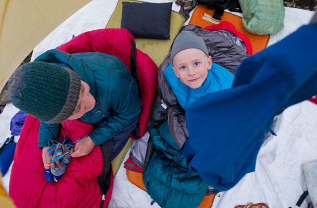 Ethan in Tent Gabe Grayum