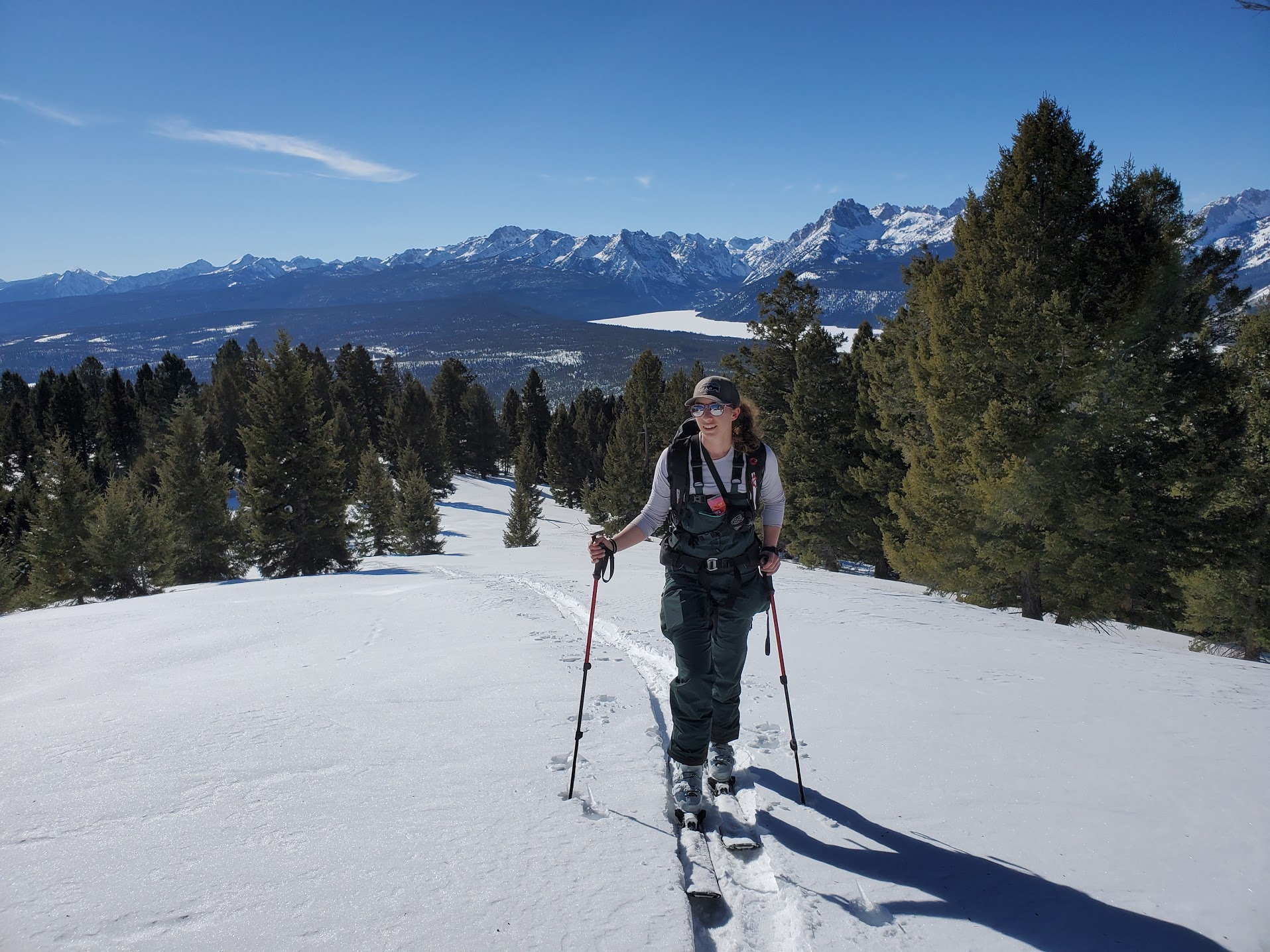 Jade Tabony ski touring Idaho