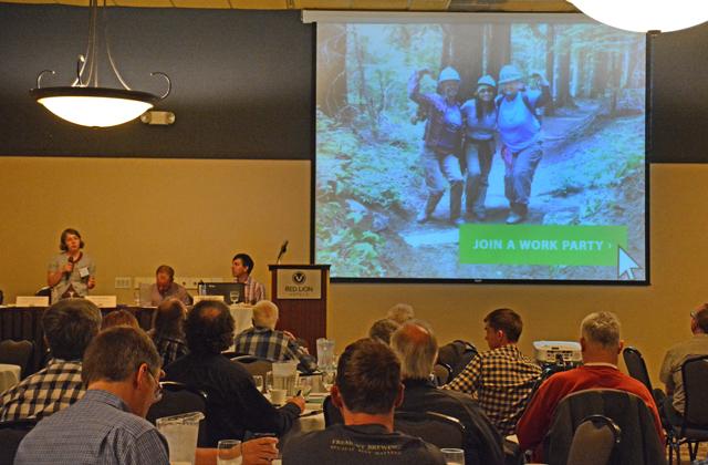 Ryan Branciforte + Loren Drummond at Trails conference Rachel wendling