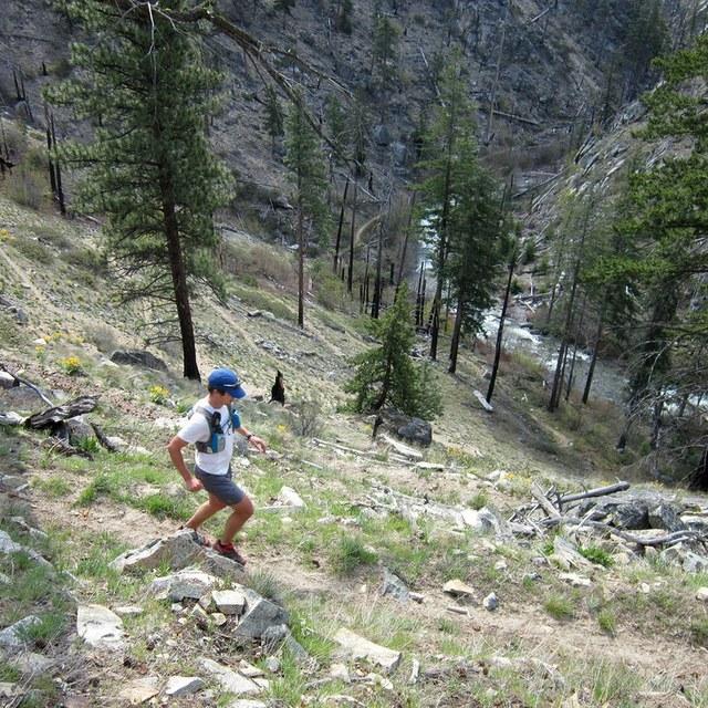 runner on Lower Mad River Valley LDistel