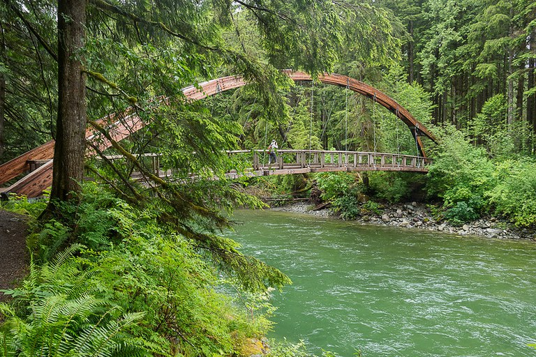 The impressive Middle Fork bridge