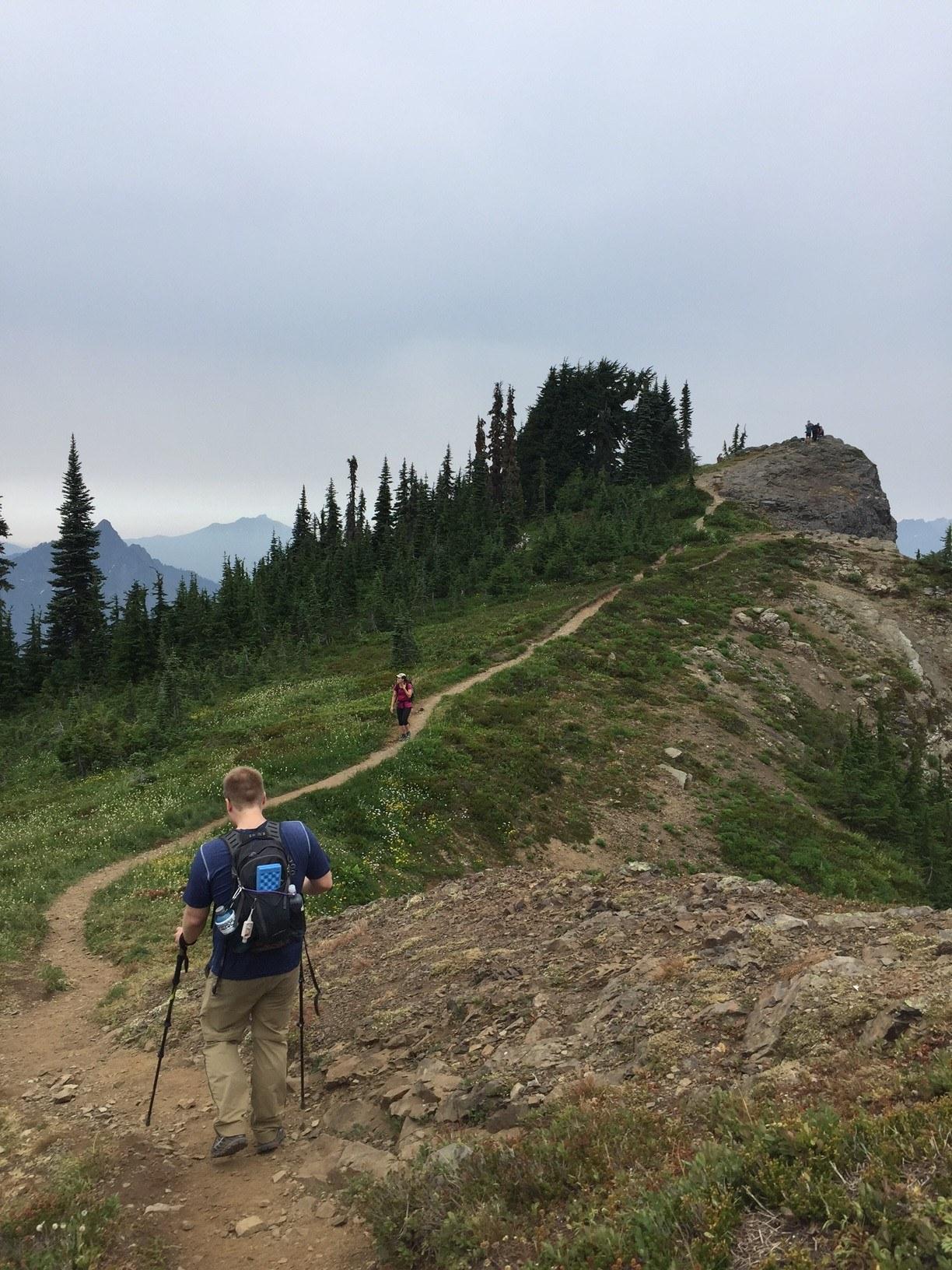 Hikers on Mount Dickerman. Photo by doristheexplorist.