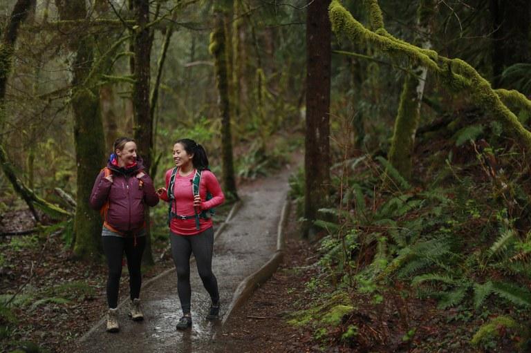 Nicole on trail.