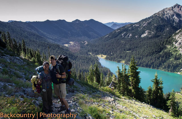 hikers on deep lake trail out 'squatchin