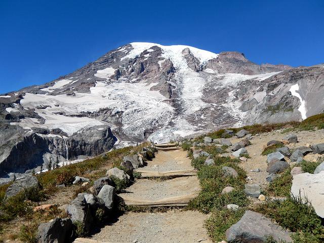 Mount Rainier steps