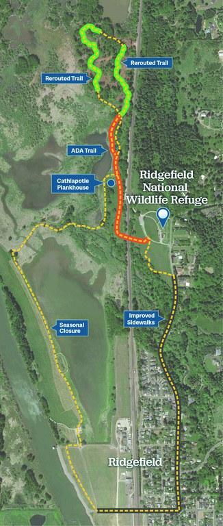 Ridgefield Refuge Trail Map