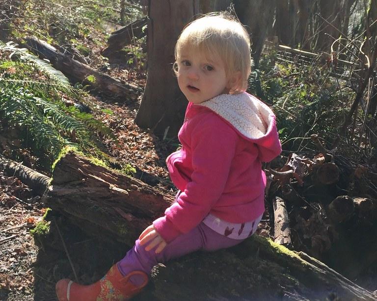 Riding a log Krista Dooley