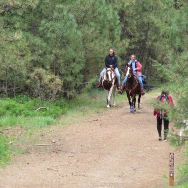 Hikers and equestrians spokane county parks
