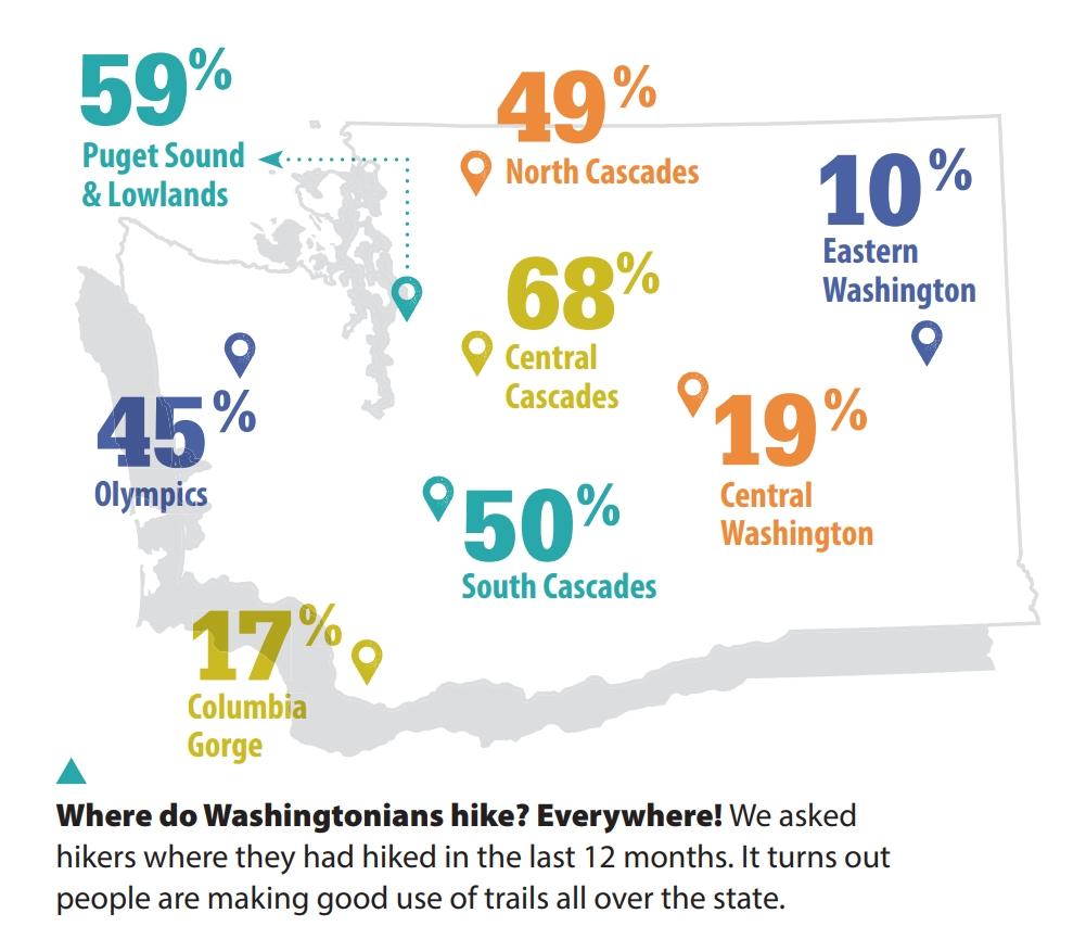 Washington Hiking Map