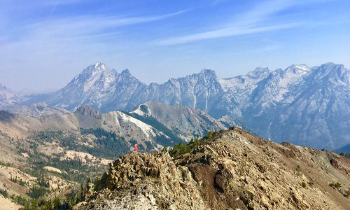 Hiker on Earl Peak in the Teanaway. Photo by Tequina Kane.