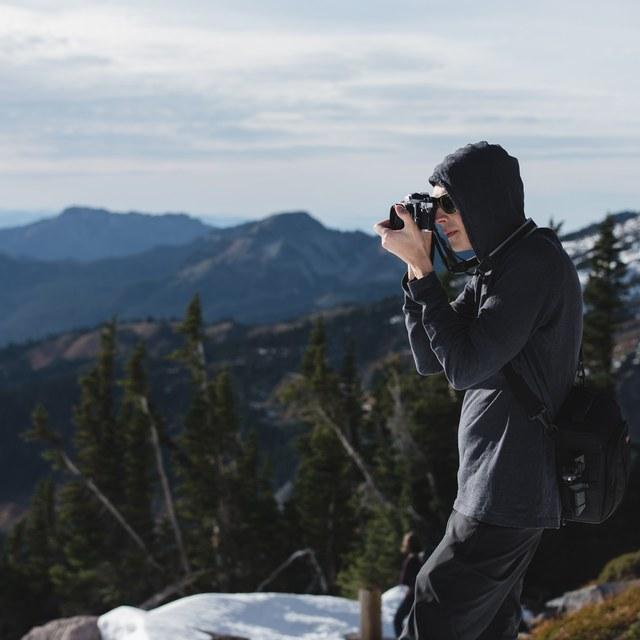 Photographer at Mount Rainier National Park. Photo by Erik Haugen-Goodman.