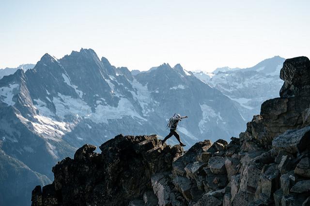 Climber Black Peak
