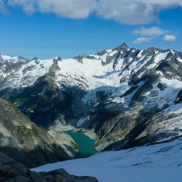 Forbidden Peak and glaciers.