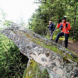 Hikers on Ridge Trail Chucknut Mountain.