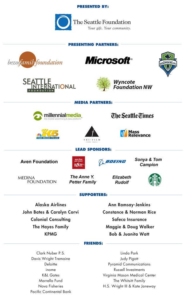 GiveBIG 2013 sponsors.