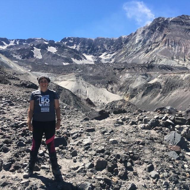 Layla Farahbakhsh at Mount St. Helens