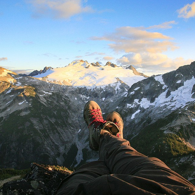 Taking in a view, boots up