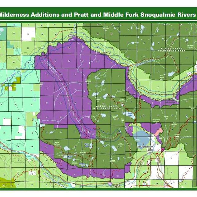 This map shows - in purple - the proposed additions to the Alpine Lakes Wilderness