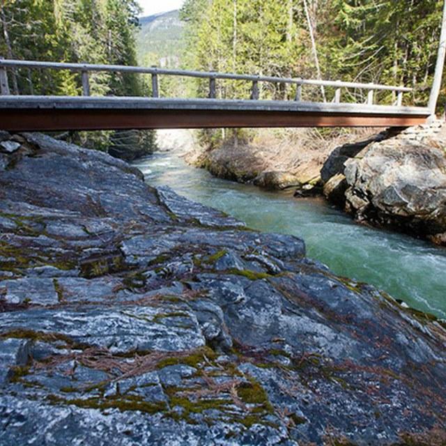 Thunder Creek bridge in April