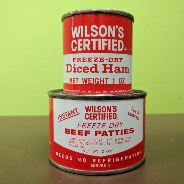 Canned backpacking meats