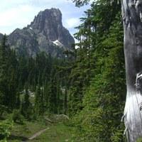 Cathedral Rock near Deep Lake