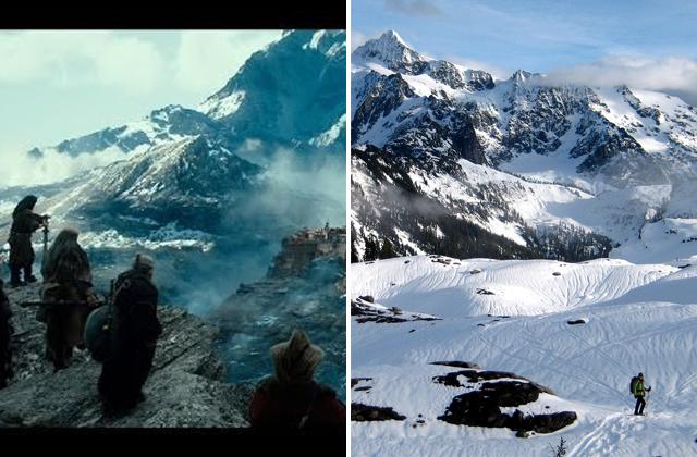 Hobbit - Desolation Smaug and Mount Shuksan