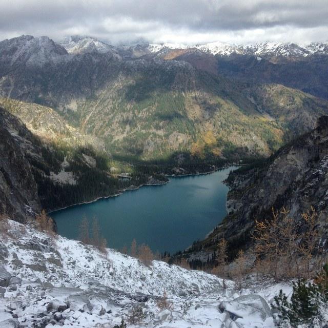Colchuck Lake in snow joejoezz