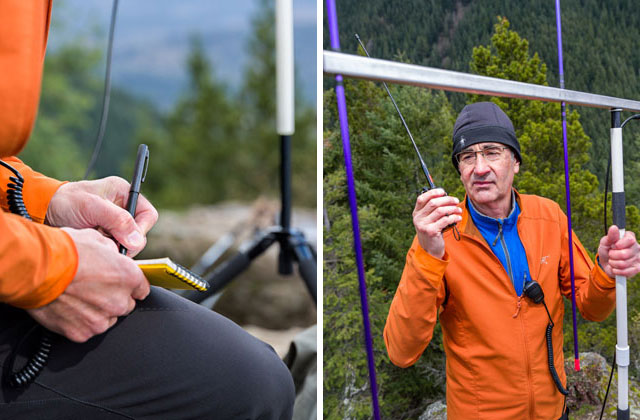 Tim records each successful contact before beginning another signal check. Photo by Daniel Silverberg.