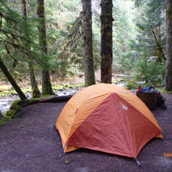 Duncan Flat Camp Slab Camp Creek and Gray Wolf River