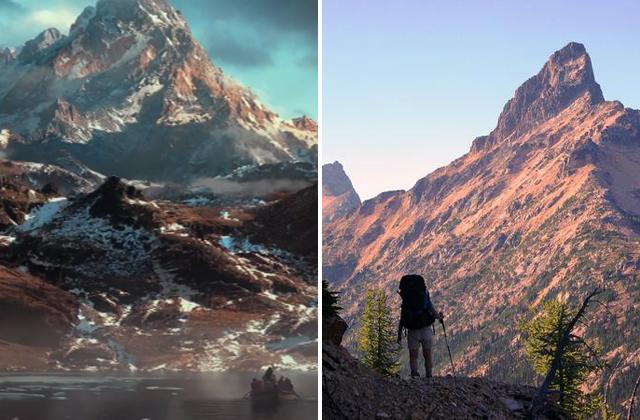 Hobbit Erabor and Tower Mountain