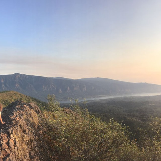 Lola at Hardy Ridge at Sunset