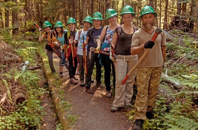 Crew ready to work on drainage elena bazhenova