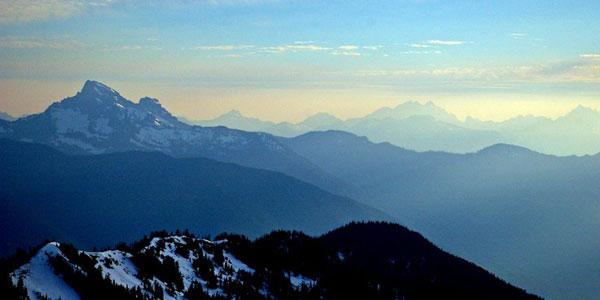 Evening Summit View Green Mountain