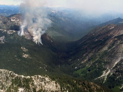 Granite Fire from air.