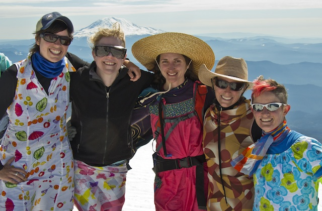 Group Hiking Mount St. Helens on Mother's Day