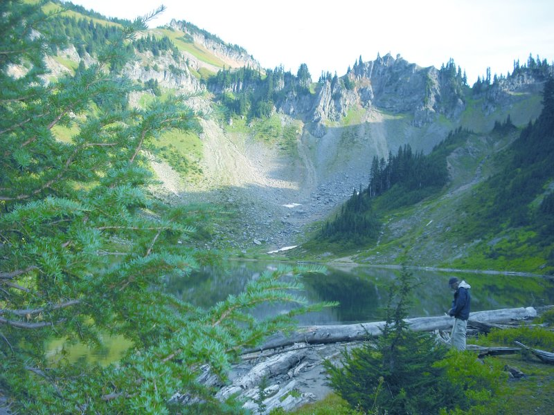 on the Tatoosh Ridge trail