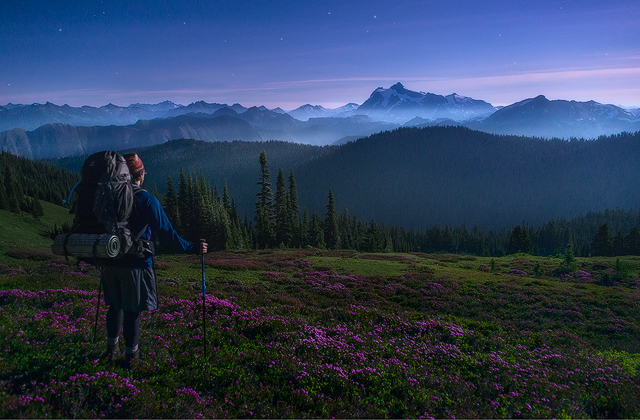 Hiking Under the Super Moon