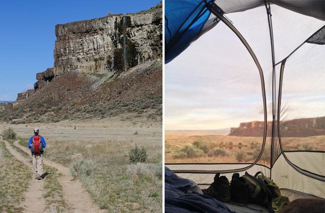 Ancient Lakes hiking and camping