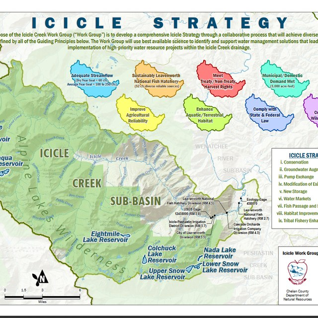Icicle Water Project map