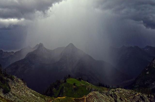 Maple pass with rain rainclouds andy porter