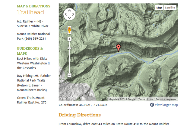 Map and Directions screenshot
