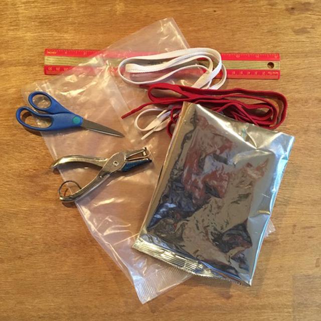Materials for upcycling bag elizabeth humphrey