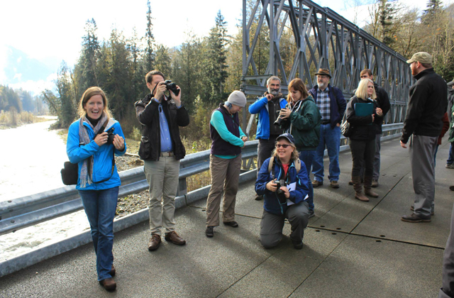 group on Boundary Bridge suiattle media tour Gary Paull