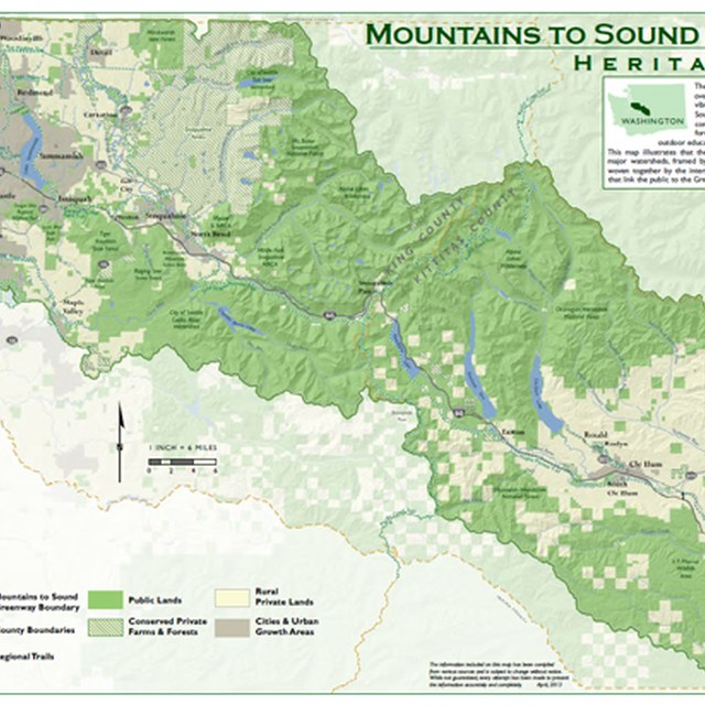 Mountains to Sound Greenway Map