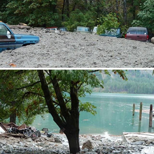 Mudslide Stehekin Sept. 2013