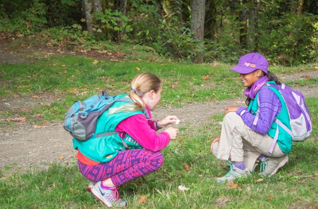 Elena and Anishka enjoy a short hike at Saint Edwards State Park. Photo by Archana Bhat.
