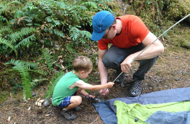 setting up the tent hilary l benson