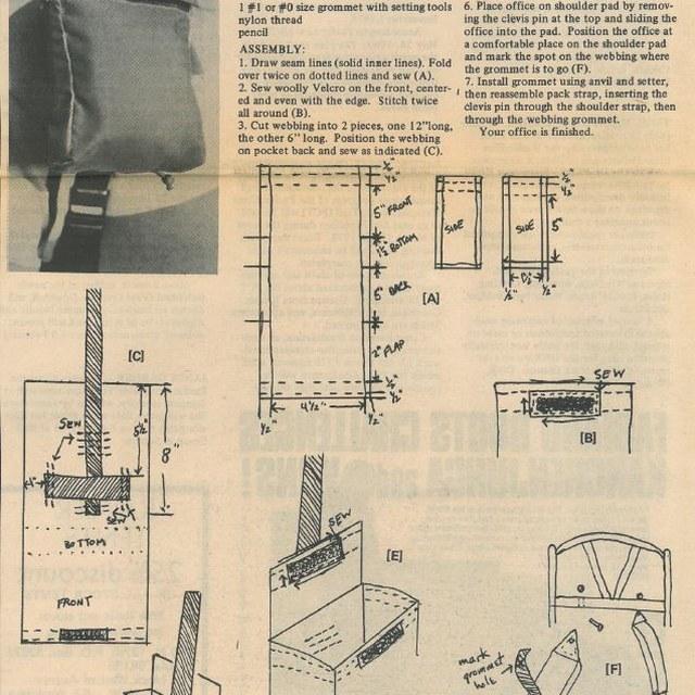 Shoulder Strap Office DIY - Signpost January 1978