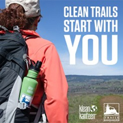 Pledge to keep trails clean.
