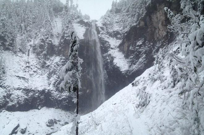 Snowy Comet Falls